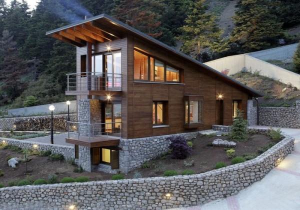 Telhado residencial de 1 água com alto grau de inclinação