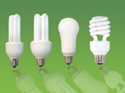 diferentes modelos de lâmpadas fluorescentes compactas