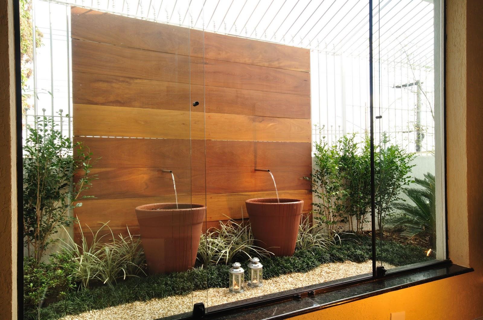 Neste caso, uma fonte mais contemporânea usada em jardins de inverno