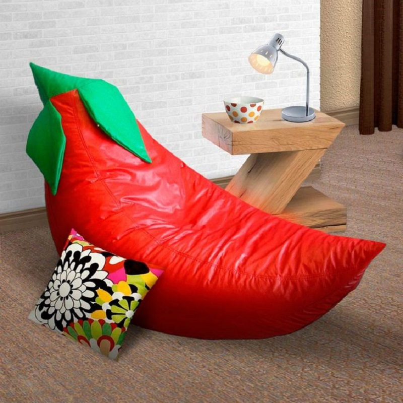 Um modelo muito bonito de puff no formato de pimenta