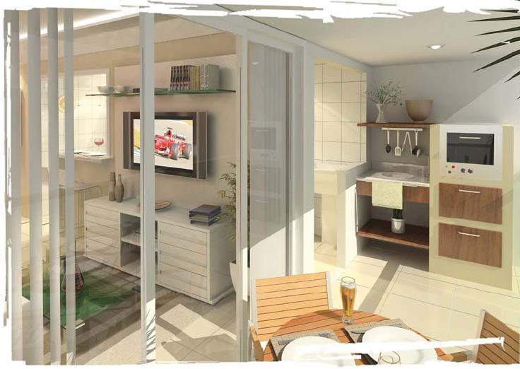 sacada de apartamento pequena com mesa e churrasqueira
