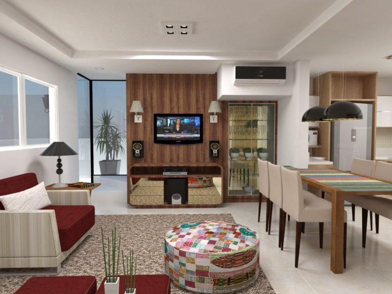 Painel de TV com Arandela decorativa