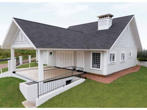 casa estilo colonial usando shinglecinza