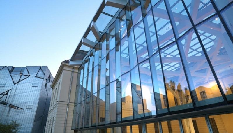 cortina de vidro na fachada