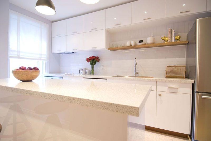 O granito com o charme da cozinha moderna