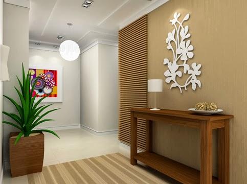 espaço moderno em bem minimalista em hall de entrada
