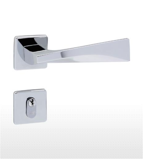 Maçaneta metálica com cabo inox da marca IMAD para portas residenciais