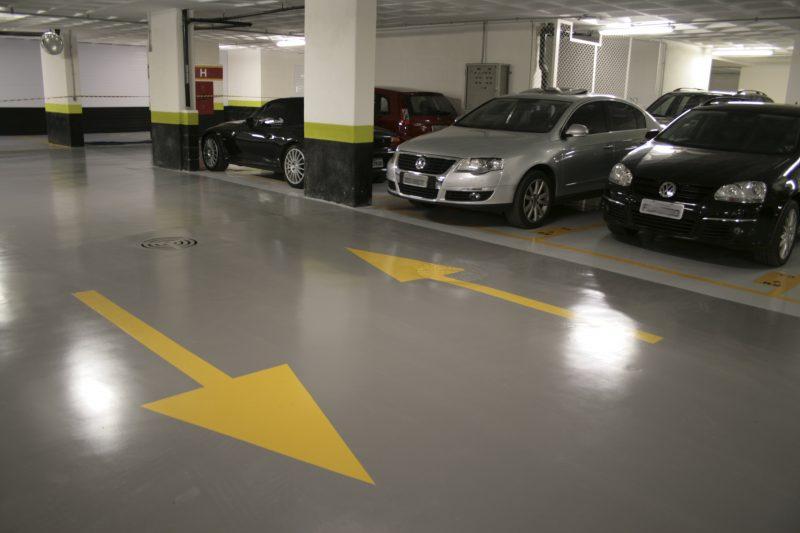 piso de garagem pintado com tinta epóxi