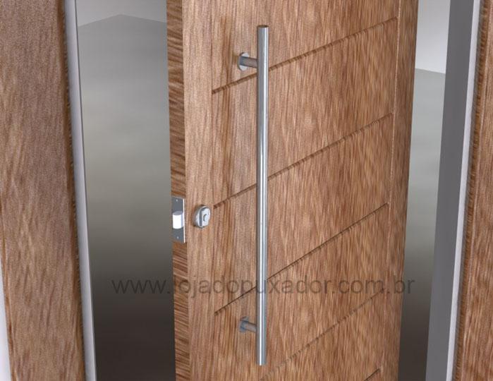 Modelo com cabo circular comprido para abertura da porta de madeira