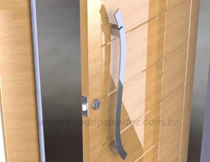 Modelos de puxar a porta curvo, muito elegante para portas com desenhos e detalhes com formasorgânicas