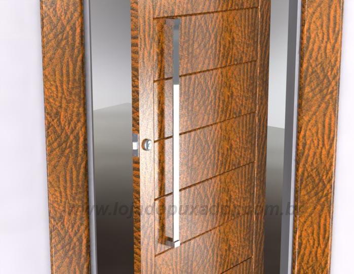 Modelo de puxador estreito para abertura de portas residenciais
