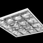 Luminária simples de embutir com lâmpadas fluorescentes
