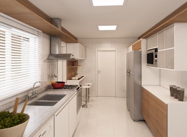 Luminárias de embutir na cozinha