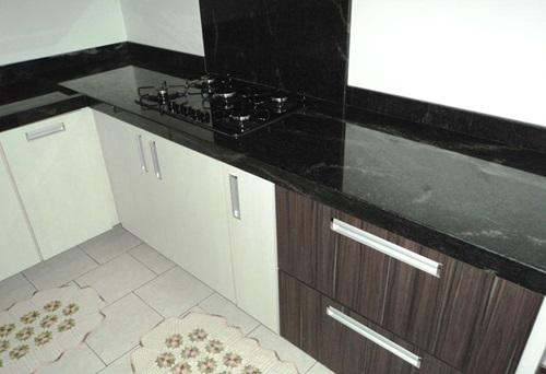 Bancada de Cozinha Granito Preto São Miguel