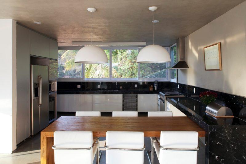 bancada de cozinha em madeira