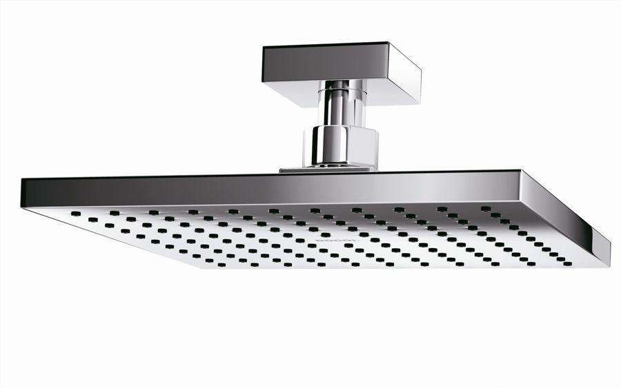 Chuveiro cromado de teto linha square para banheiros de luxo Docol
