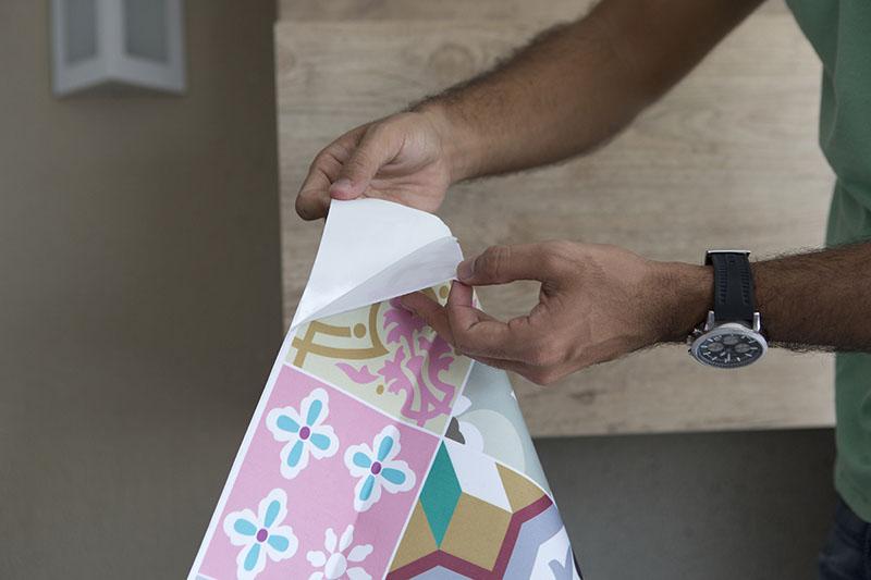 Aplicação do tecido adesivo