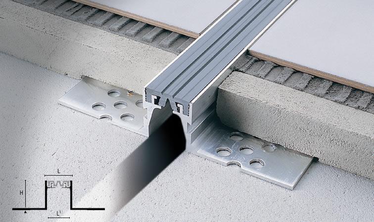 Juntas de dilatação entre peças de piso
