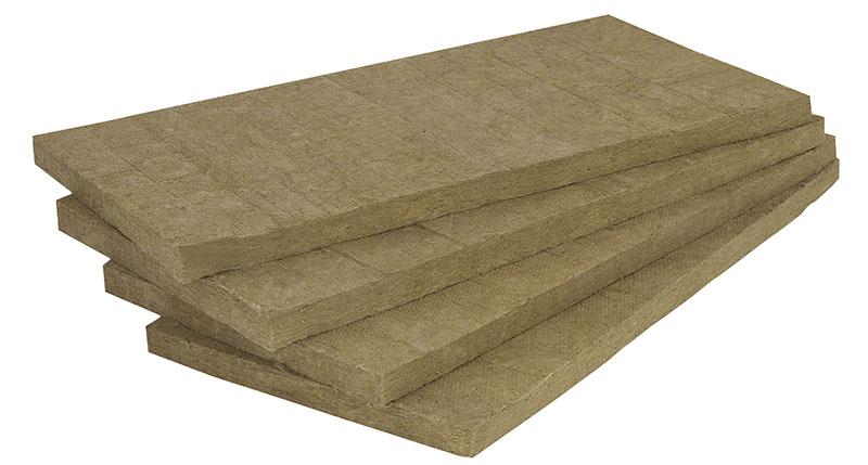 Placas de lã de rocha usadas para o isolamento em estruturas verticais