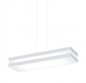 Plafon mais linear pendente branco