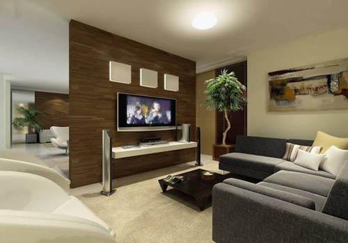 Sala De Tv Parede Preta ~ 10 ideias de Decoração de Salas de TV