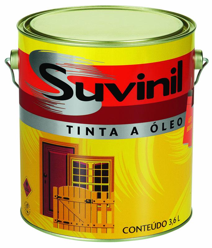 Tinta a óleo da Suvinil, especial para pinturas que não estejam ligadas diretamente a fontes de umidade