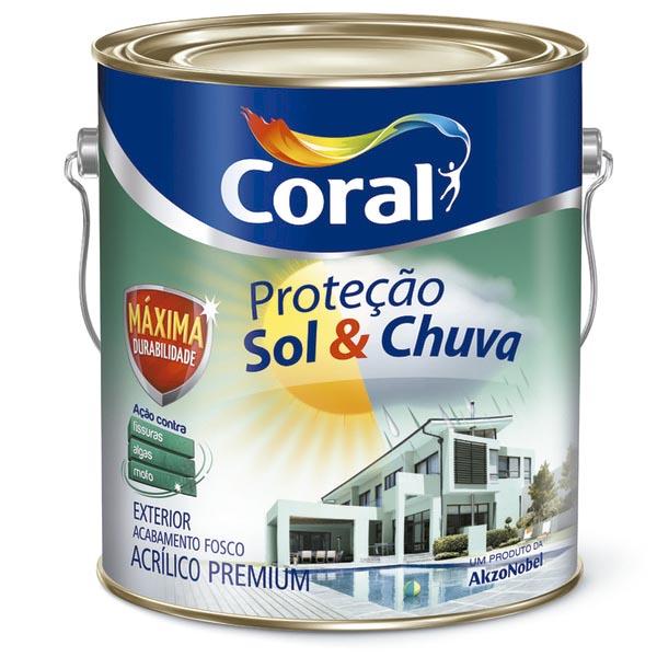 Tinta acrílica da Coral para pintura de paredes externas