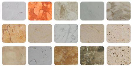 Tipos de mármores