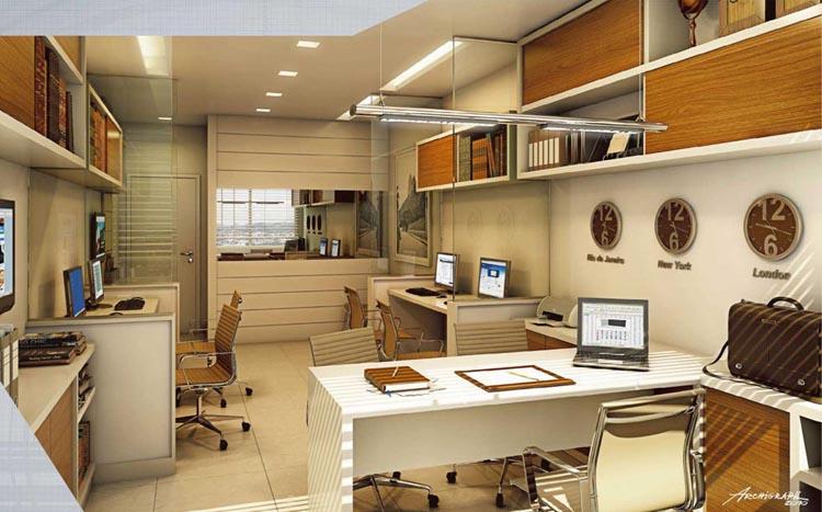 A decoração de escritórios com cores claras ajuda a manter os funcionários ativos e inspirados no trabalho