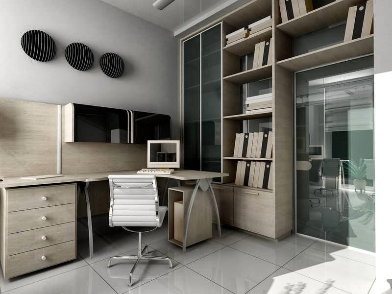 um bom exemplo de como praeleiras e estantesde livros podem ser excelentes aliadas na decoração de ambientes de escritórios