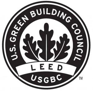 Logomarca do selo da certificação LEED, distribuída pelo USGBC