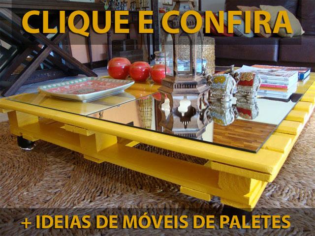 Clique e veja mais ideias de móveis de paletes reaproveitados