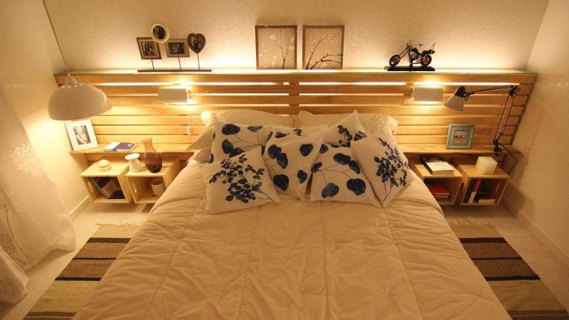 Ideias de móveis de paletes reaproveitados - comoda de cama