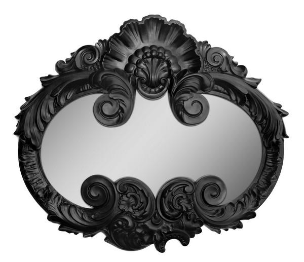 Espelho criativo com formato do símbolo do Batman