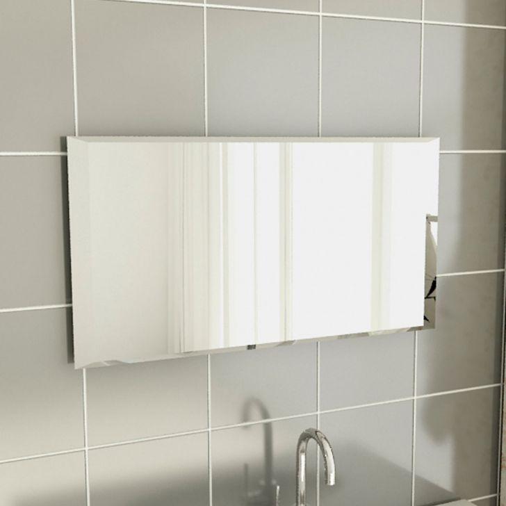 Espelho simples retangular para parede de banheiro