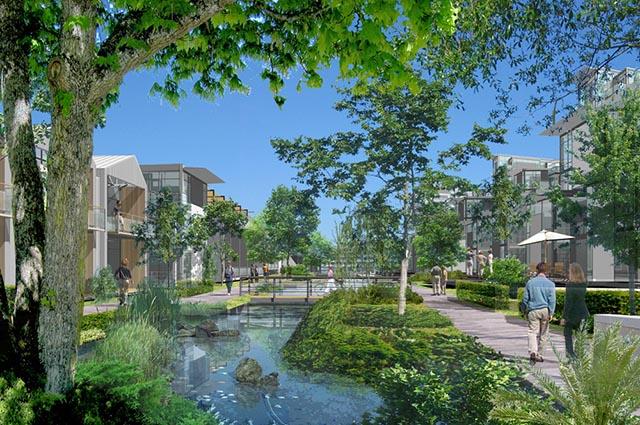 Um exemplo de projeto com certificação LEED Neighborhood, para vizinhanças ecológicas
