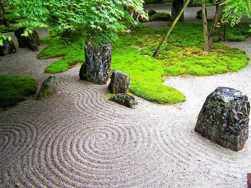 Jardim Zen estilo jardim Japonês
