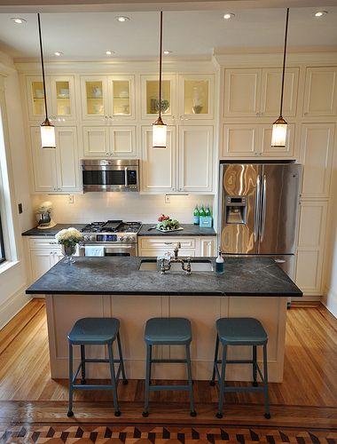 cores escuras limestone cozinha