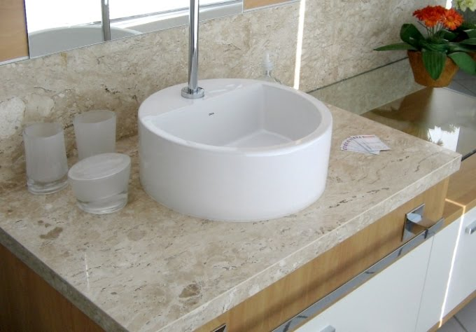pia mármore travertino