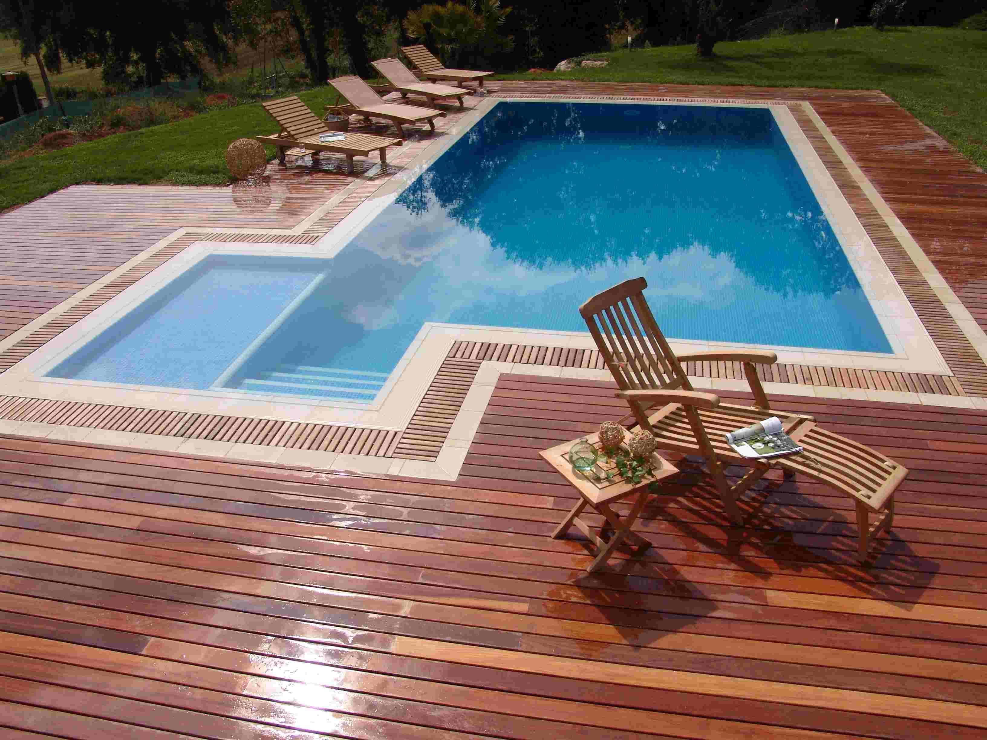 da área da piscina Piso de madeira para deck de piscina de vinil #087198 3264x2448