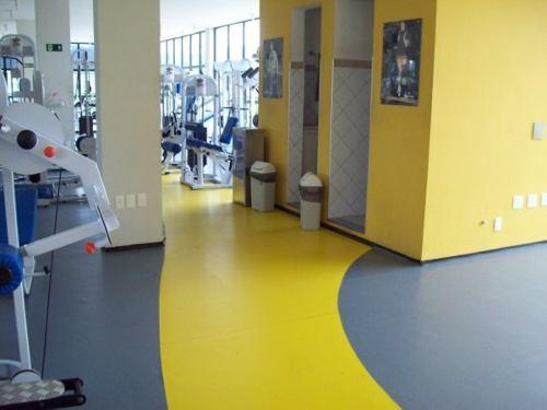 Piso de PVC colorido para academia
