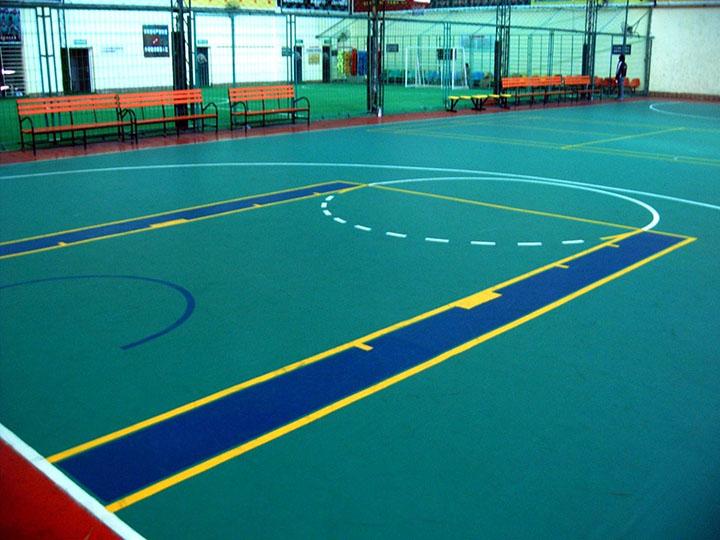 Piso de PVC revestido quadra poliesportiva