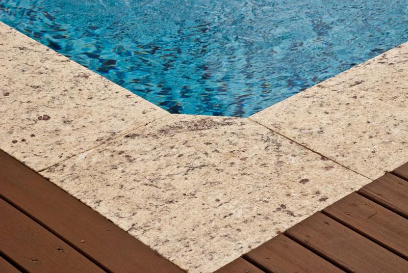Piso de Granito para a borda da piscina