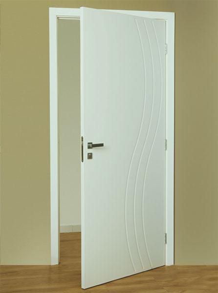 Porta de PVC interna, para fechamento de ambientes como quartos, banheiros e escritório