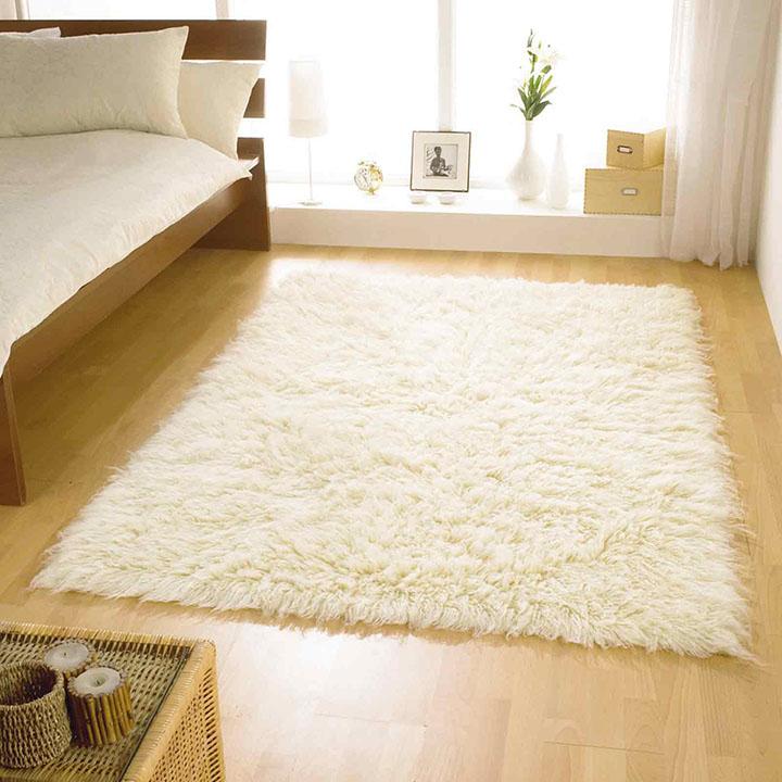 Modelo pequeno 100% lã de tapete Shaggy para o quarto