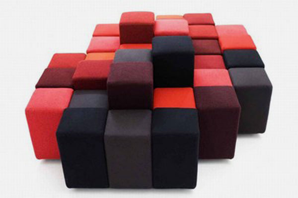 Maneira alternativa de montar o modelo de sofá moderno anterior