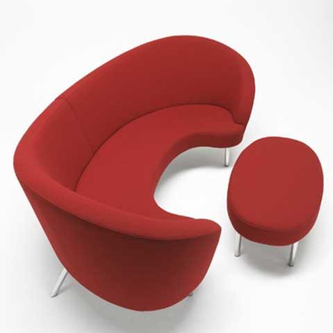 Outro belo modelo de sofá contemporâneo para decoração de salas modernas