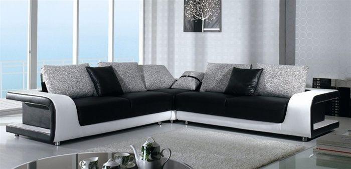 Um belo modelo de sofás modernos para decorar uma sala contemporânea