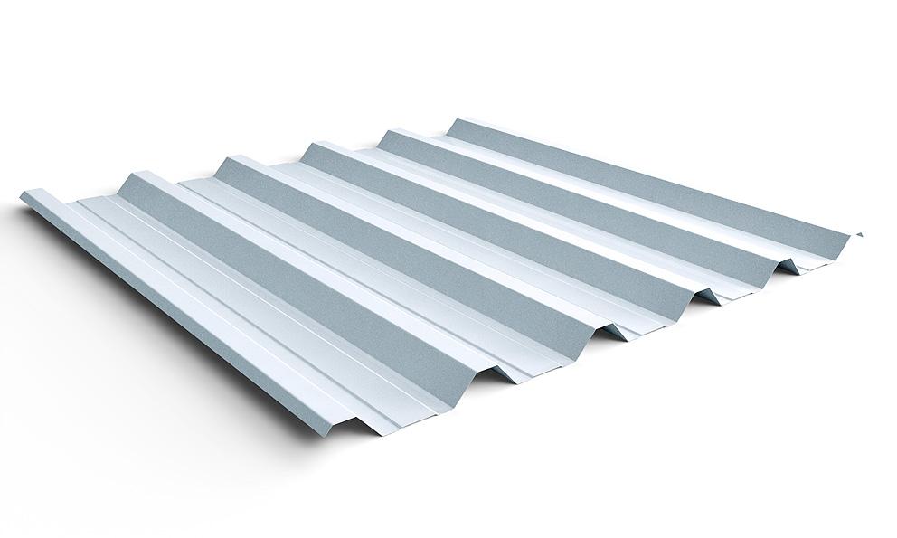 Telha de zinco trapezoidal, muito popular na construção de galpões industriais