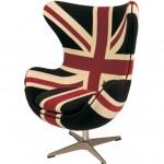 Peça de decoração com estampa da bandeira britânica